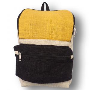 Black Yellow Hemp Backpack_1